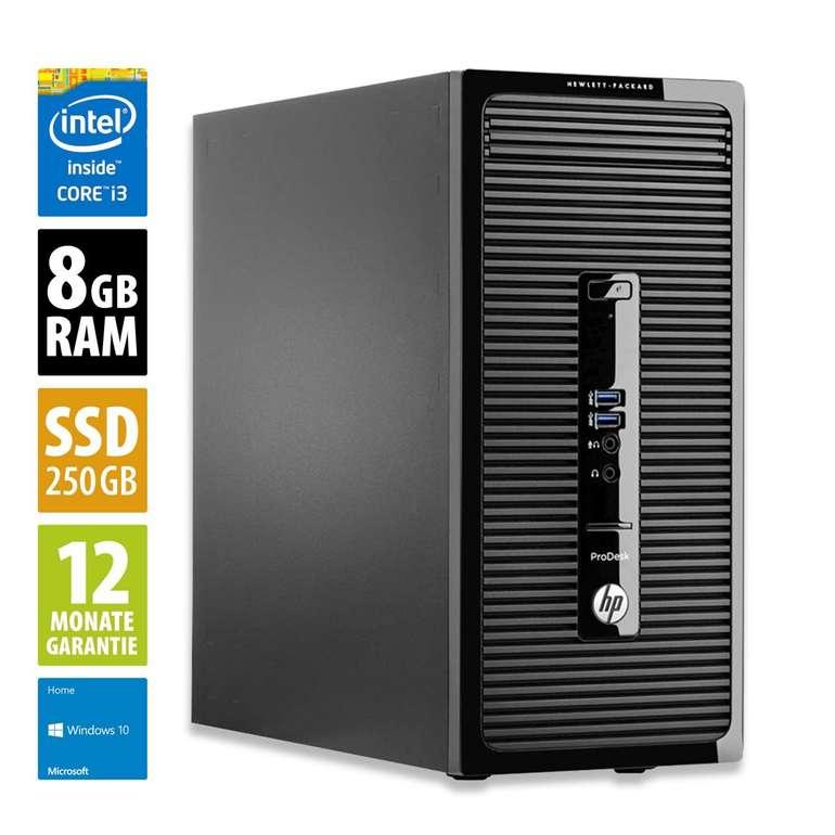 HP ProDesk 490 G3 MT Office-PC mit Core i3, 8GB RAM, 250GB SSD & Win10 für 249€