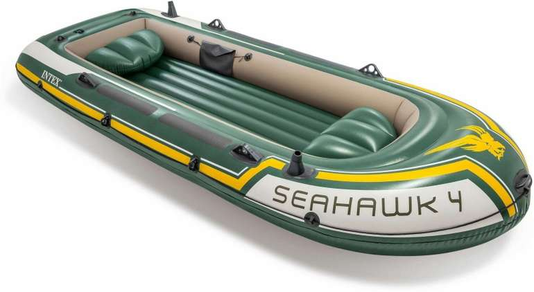 Intex Schlauchboot Seahawk 4 + Alu-Paddel + Pumpe (351 x 145 x 48 cm) für 134,95€ inkl. Versand (statt 150€)