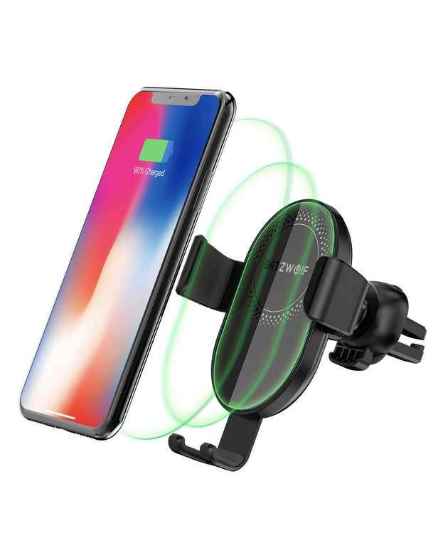 BlitzWolf Qi Wireless Charger Autohandyhalterung für 11,59€ inkl. Prime Versand