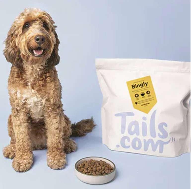 75% Rabatt auf die erste Hundefutter Lieferung (Trocken- & Nassfutter) von tails.com