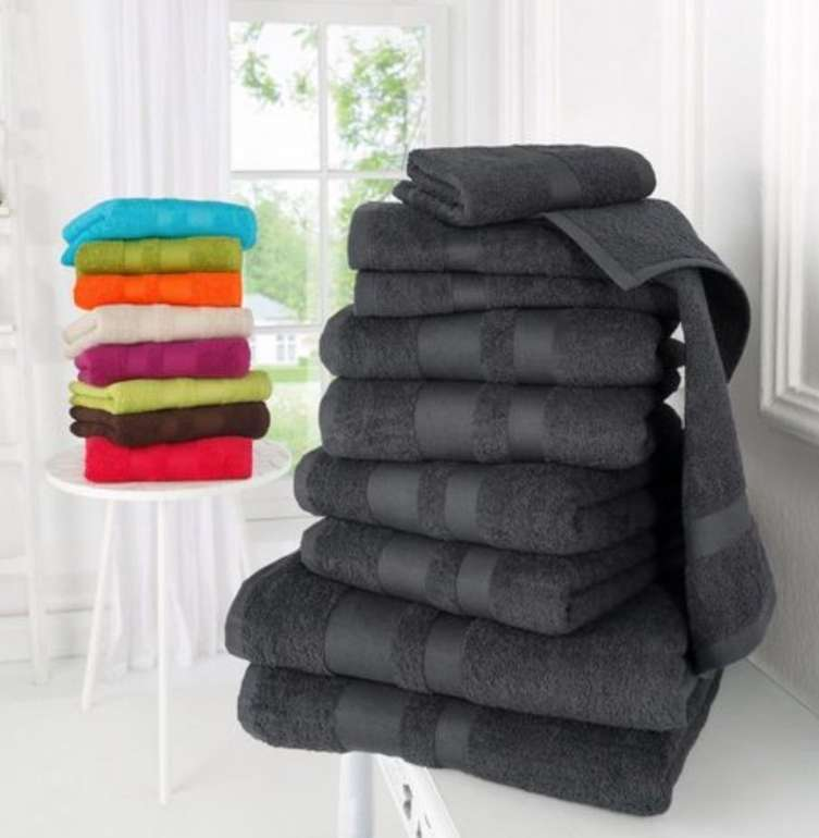 """10-tlg. My home Handtuch Set """"Vanessa"""" mit abgesetzter Bordüre für 20,94€ inkl. Versand (statt 31€)"""