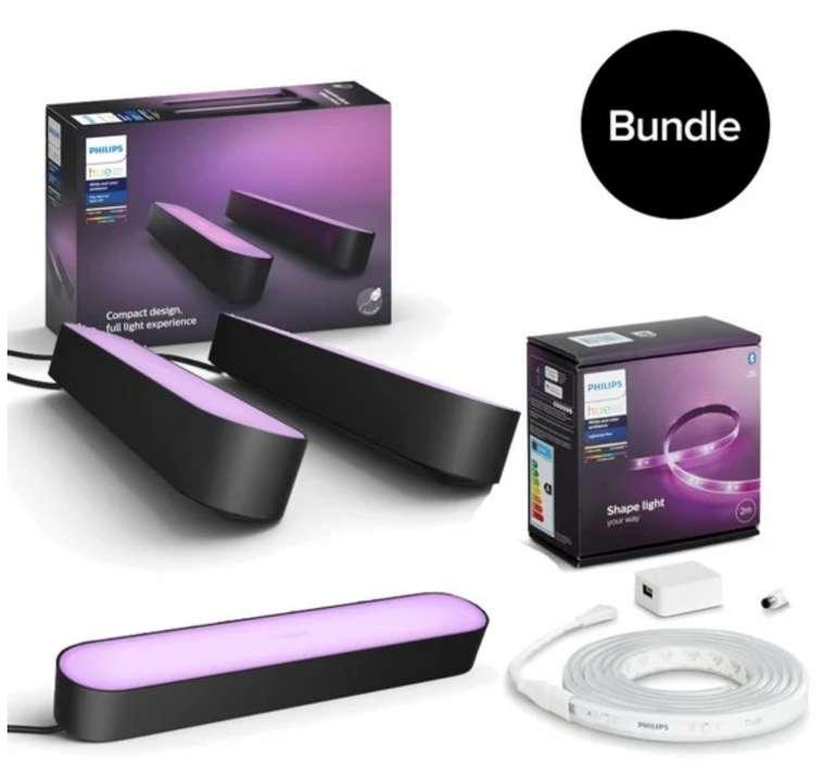 Starke Philips Hue Angebote im Coolshop, z.B. Philips Hue Play schwarz 3er Pack + 2m Lightstrip für 168€ inklusive Versand