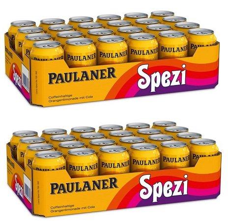 48 x 0,33 Liter Dosen Paulaner Spezi für 28,48€ mit Versand (inkl. 12€ Pfand)