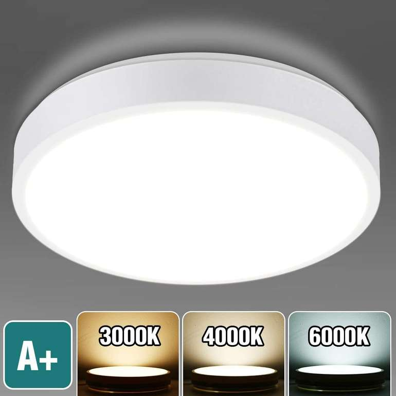 Kingso LED-Deckenleuchte (15W, dimmbar, IP54) für 12,99€ inkl. Versand (statt 19€)