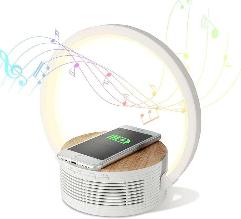 Decorus Nachttischlampe mit 10W Qi Ladegerät & Lautsprecher für 29,89€ inkl. Versand (statt 44€)