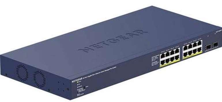 Netgear 16-Port POE+ Smart Switch GS716TPP-100EUS (PoE+, 300W, 2x 1G-SFP) für 175,90€ (statt 285€)