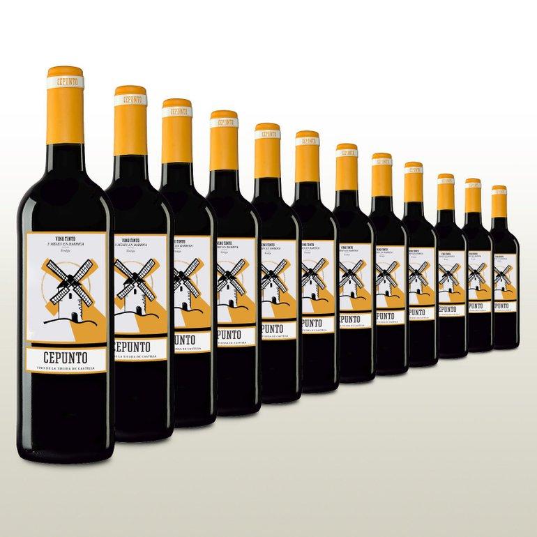 12 Flaschen Cepunto Tinto Tempranillo Rotwein für 37,90€ inkl. Versand