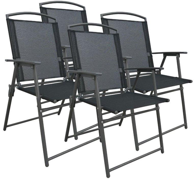 4er-Set VCM Gartenklappstühle aus Metall/Textilene für 59,99€ inkl. Versand