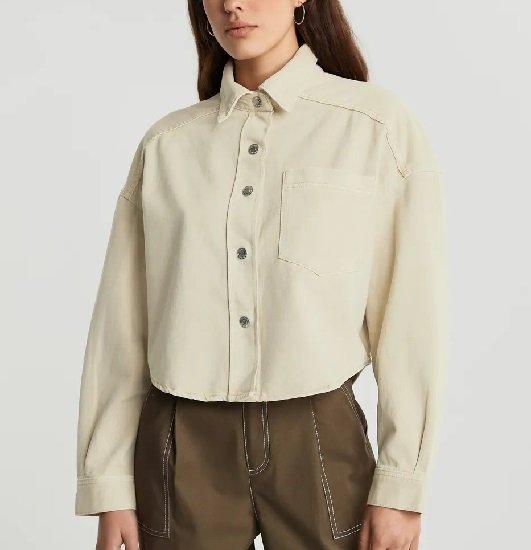 Gina Tricot: Sale mit bis zu -50% Rabatt + 20% Extra, z.B. Cropped denim shirt für 9,60€ (statt 20€)
