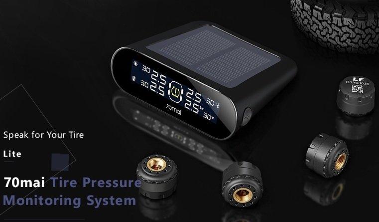 Xiaomi 70mai AUTO Reifendruckkontrolsystem (solarbetrieben) für 22,49€ inkl. Versand (statt 40€)