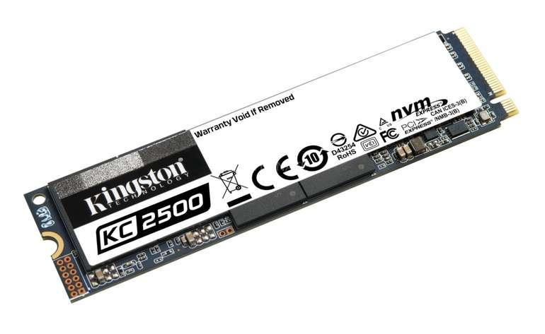Kingston KC2500 mit 2 TB SSD PCIe 3.0 x4, NVMe, M.2 2280 für 191,89€ inkl. Versand (statt 209€)