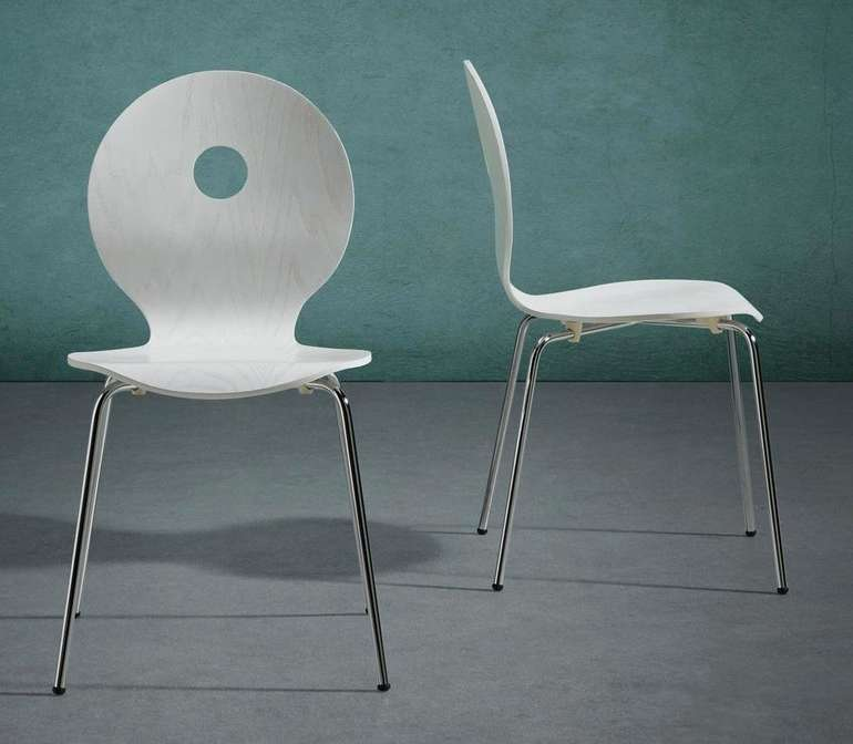 Bessagi Home 'Nahia' Holzstuhl in Weiß für 10€ inkl. Versand (statt 34€)