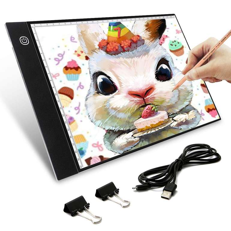 Elfeland A4 LED Light Box Zeichenbrett (dimmbar, USB Kabel) für 11,99€ inkl. Prime Versand (statt 17€)