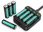 RAVPower Batterieladegerät + 8er Pack AA Ni-MH 2600mAh Akkus für 15,99€ (Prime)