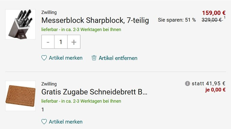 Zwilling Messerblock Sharpblock 7-teilig