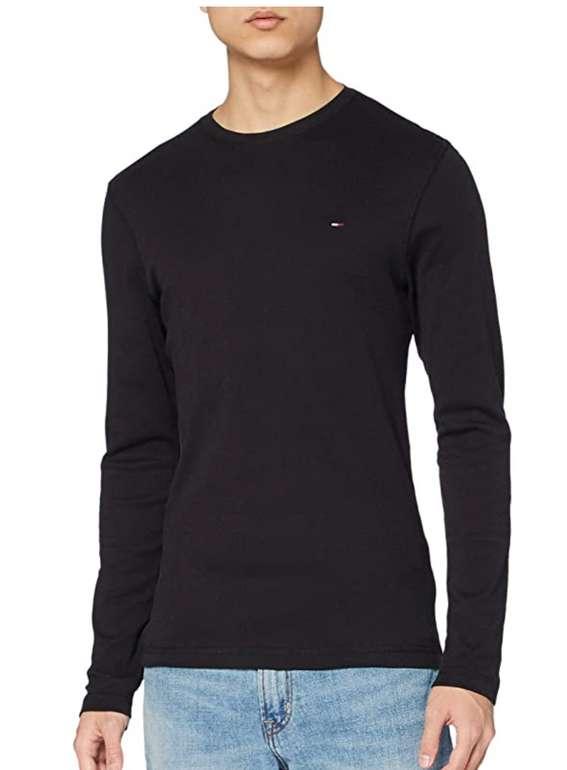 Tommy Jeans Herren Original Rib Langarmshirt in schwarz für 18,92€ inkl. Prime Versand (statt 29€)