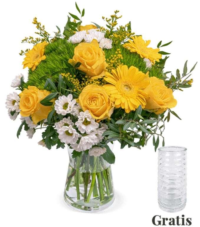 """Blumenstrauß """"Sonnenschein"""" inkl. Vase für 23,43€ inkl. Versand (statt 30€)"""