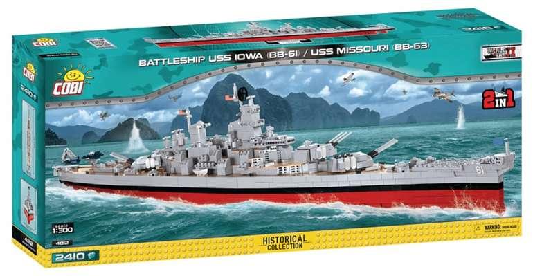 Cobi Schlachschiff USS Iowa BB-61 / Missouri BB-63 2-in-1 Modell für 97,47€ inkl. Versand (statt 109€)