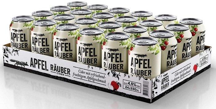 24 x 0,33 Liter Apfel Räuber Cider für 15,99€ inkl. Versand (Prime!)