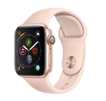 Apple Watch Series 4 GPS 40mm Aluminiumgehäuse + Sportarmband Rosa für 379,90€