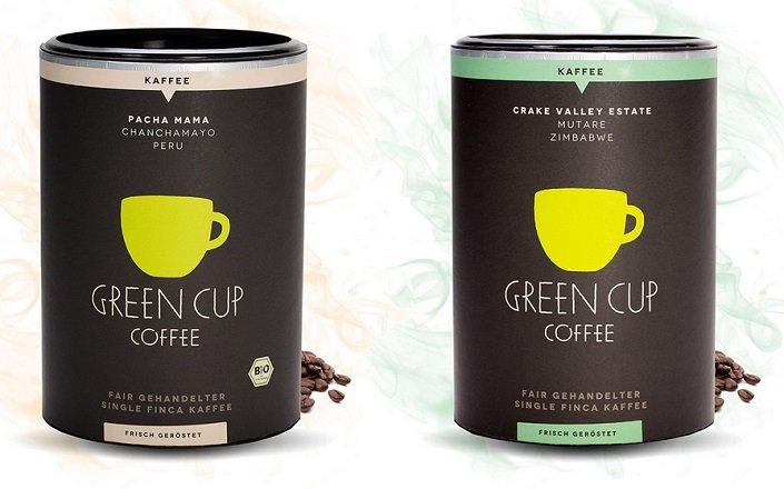 Green Cup Coffee: Feinschmecker Kaffee & Espresso für 19,95€ inkl. VSK