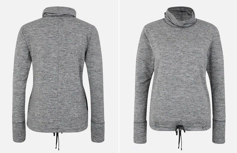 Nike Yoga Damen Sweatshirt in Grau