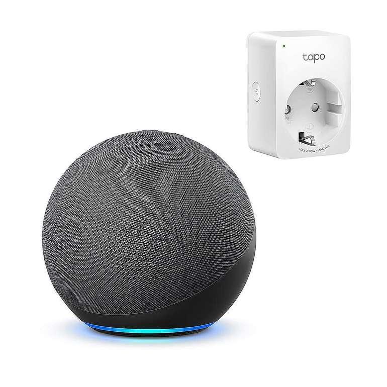 Amazon Echo 4. Gen. sprachgesteuerter Lautsprecher + Tapo Smart Plug für 69,99€ inkl. Versand (statt 102€)