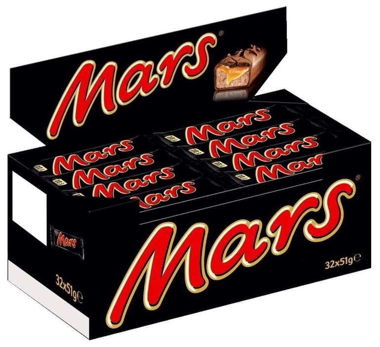 32er Packung Mars Schokoriegel für 11,45€ (statt 19€) - Prime!