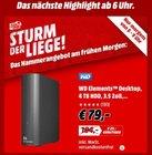 Bis 9 Uhr: WD Elements Desktop 4TB (64MB Cache, SATA III, USB 3.0) für 79€