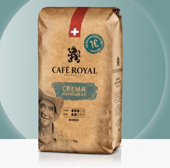 Café Royal: 40% Rabatt auf alles ab 30€, z.B. 7kg Honduras Crema Kaffee + 2 Latte Gläser für 67,16€