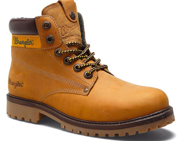 Herren Winterschuhe: Wrangler Men's Hunter Leather Lace Up Boots für 34,48€
