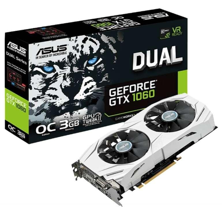 Asus GeForce GTX 1060 Dual OC 3GB (90YV09X3-M0NA00) Grafikkarte für 100,99€ (statt 209€)