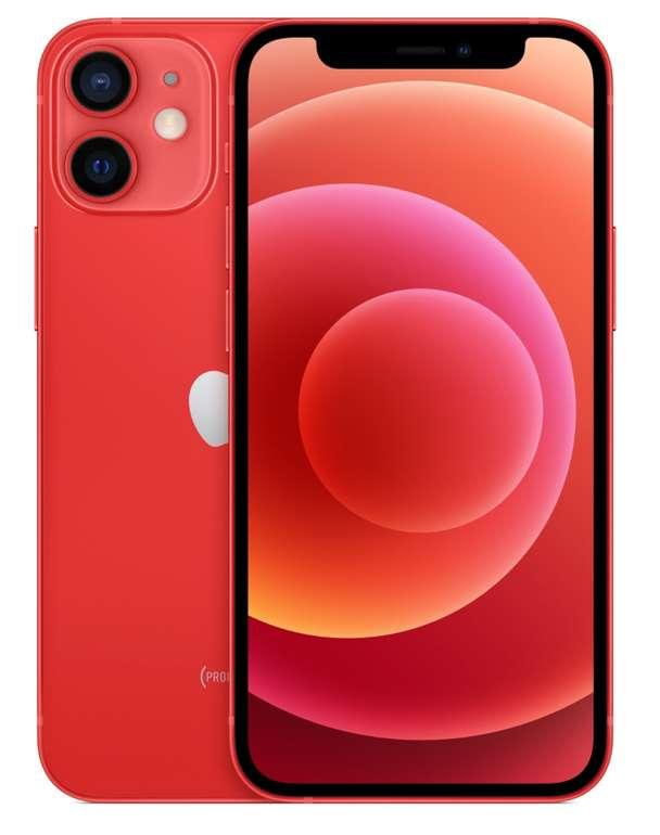 Apple iPhone 12 Mini in Rot mit 64 GB (149€) + Telekom congstar Allnet Flat 10 GB für 22€ mtl. - effektiv 3,59€ mtl.