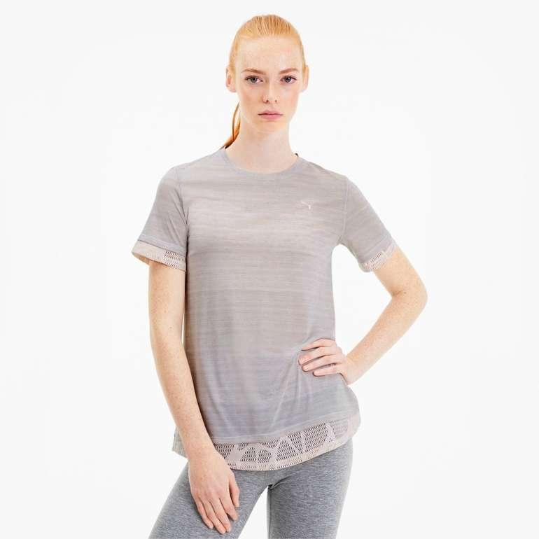 Puma Studio Mixed Lace Damen Training T-Shirt für 14,36€ inkl. Versand (statt 21€)