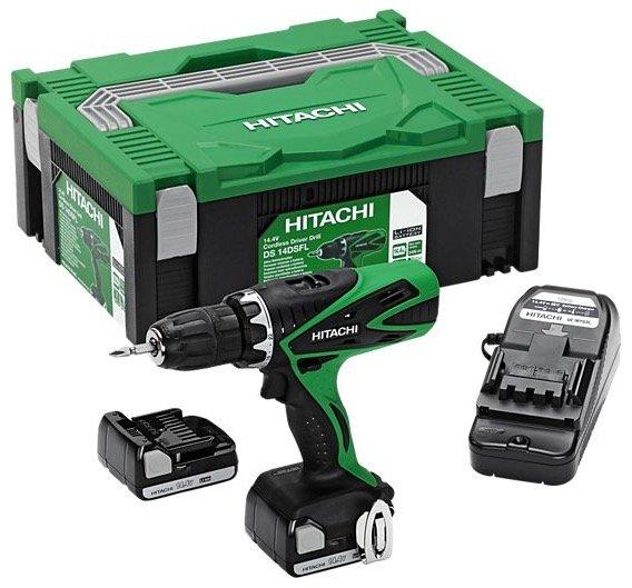 Hitachi DS 14DSFL 1,5Ah Akku-Bohrschrauber mit 2 Akkus & Transportbox für 99,95€