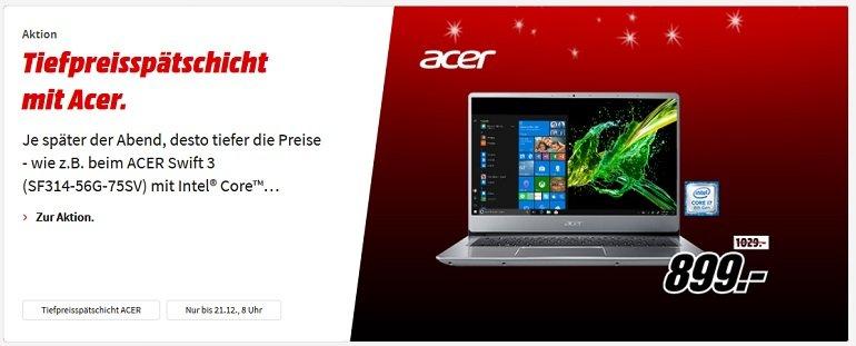 Media Markt Acer Tiefpreisspätschicht 2
