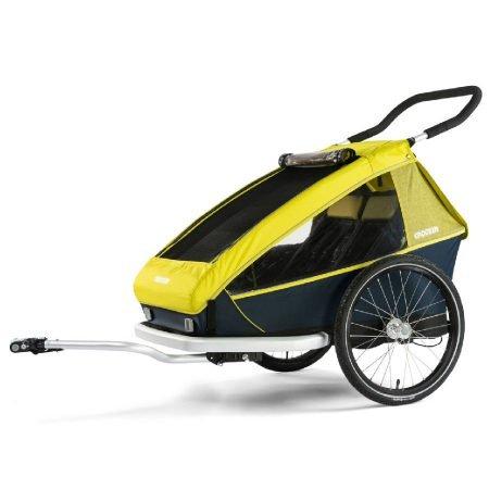 Croozer Fahrradanhänger Kid for 2 (2019) in Lemon Green für 557,09€ (statt 638€)