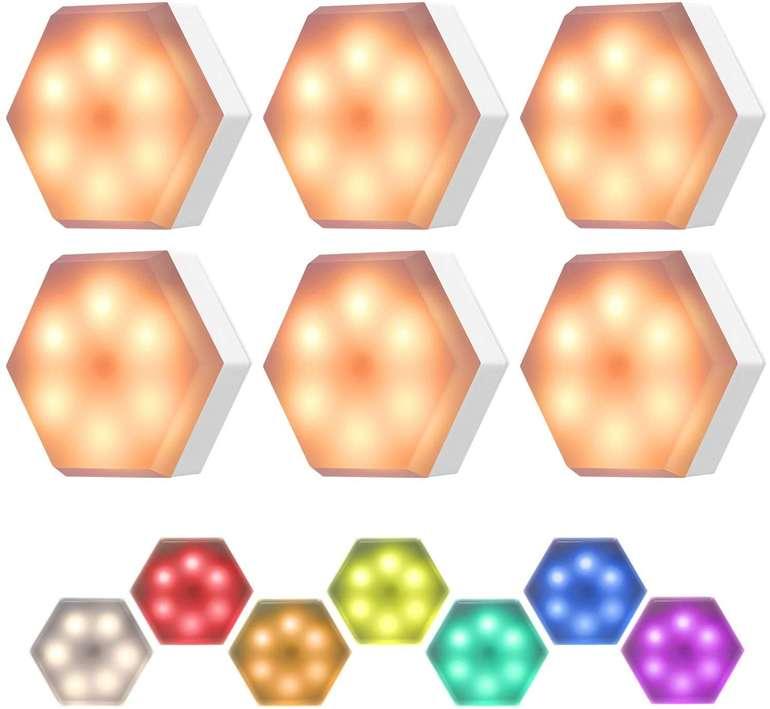 KinSoHome 6er Set RGB LED Schrankleuchten für 6,49€ inkl. Prime Versand (statt 13€)