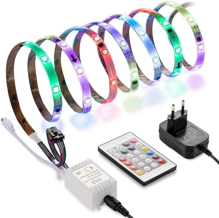 Linkind 5 Meter LED Streifen Set (RGB, wasserdicht, Fernbedienung) für 14,29€ (Prime)