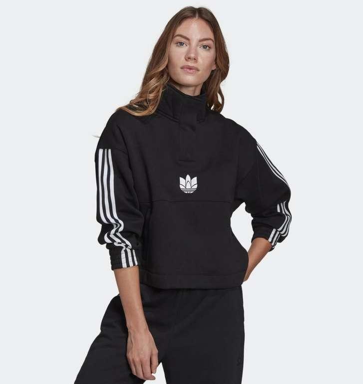 Adidas Adicolor 3D Trefoil Fleece Half-Zip Damen Sweatshirt für 25,71€ (statt 30€)