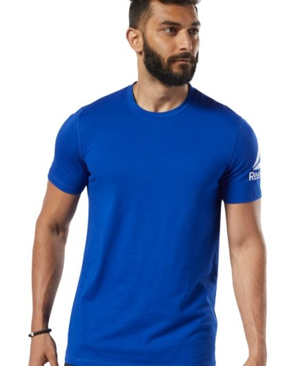 "Reebok Shirt ""Wor we comm ss tee"" in blau für 14,86€ inkl. Versand (statt 28€)"