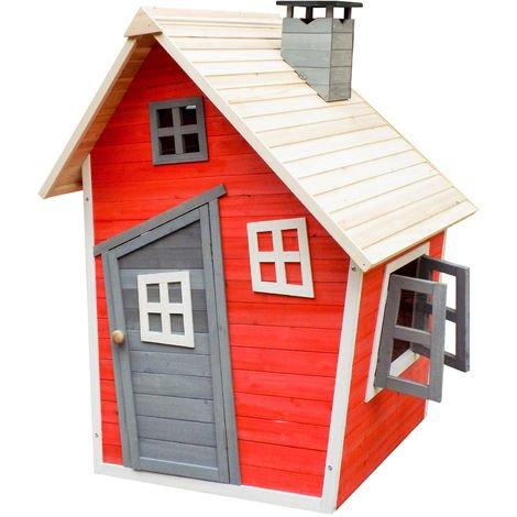 Wiltec umweltfreundliches Spielhaus für Kinder aus Fichtenholz für 178,93€ (statt 221€)