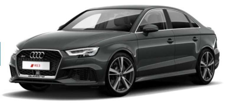 Gewerbe Leasing: Audi RS3 Limousine mit 400PS für 369€ netto mtl. (36 Monate, Eroberung, LF: 0,53)
