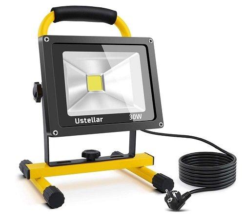 Ustellar 2400LM LED Baustrahler mit 30W für 23,49€ inkl. Prime VSK
