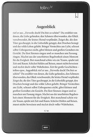 """Tolino epos eBook-Reader - 7,8"""" Display, 4 Wochen Akkulaufzeit für 169€"""