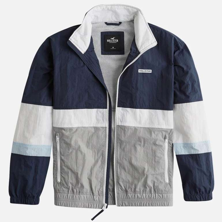 Hollister Herren Jacke in dunkelblau / hellgrau für 34,11€ inkl. Versand (statt 58€)