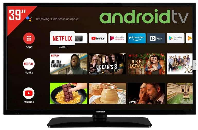 Telefunken D39H500X2CW TV mit 39 Zoll (Android, Smart TV, Triple Tuner) für 233,95€ inkl. Versand (statt 269€)