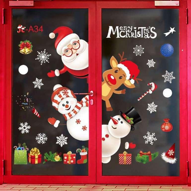 Zoylink - weihnachtliche Fenster Aufkleber für 2,99€ inkl. Prime Versand (statt 7€)