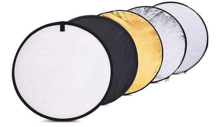 Andoer Faltreflektor mit Ø60cm & 5 verschiedenen Oberflächen für nur 7,99€