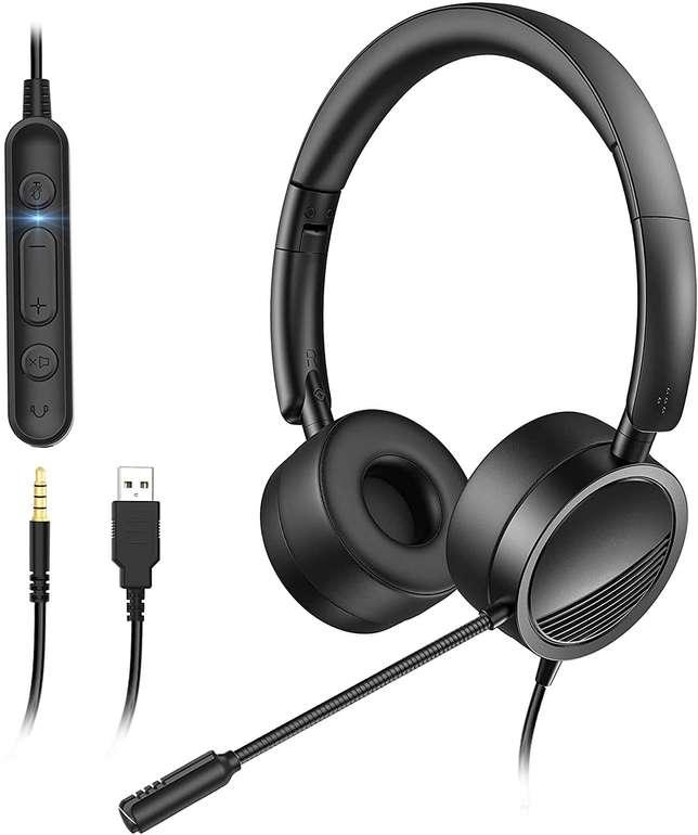 Gindoly PC Headset mit Mikrofon für 14,99€ inkl. Versand (statt 30€)
